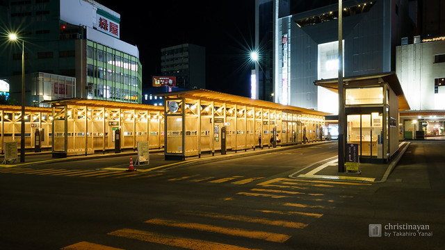 Exterior view of Akita Station West Exit Bus Terminal (秋田駅西口バスターミナル)