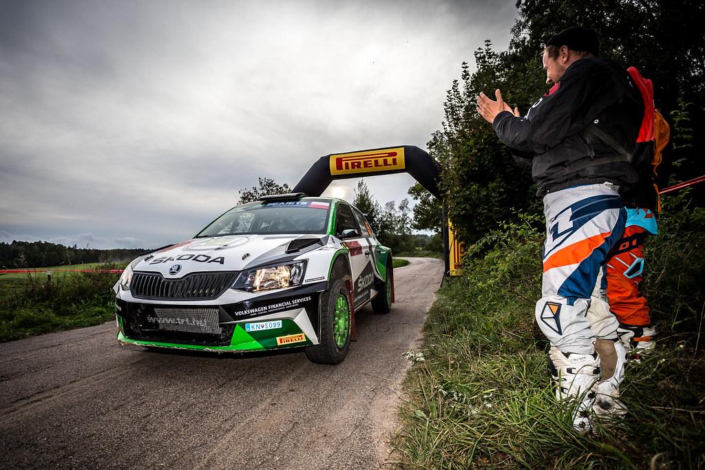 15 MARCZYK Miko (POL), GOSPODARCZYK Szymon (POL), SKODA POLSKA MOTORSPORT, Fabia R5, finish during the 2018 European Rally Championship Rally Poland at Mikolajki from September 21 to 23 - Photo Thomas Fenetre / DPPI
