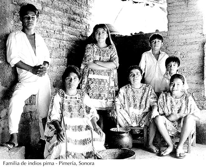 Familia pima, Pimería, Sonora