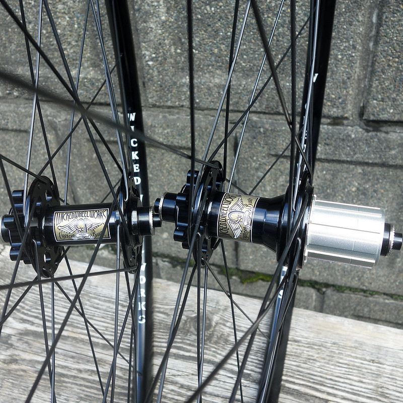 Wicked Wheel Works / 完組み Wheel Set for Disc Brake / 28H Front&Rear シクロクロス / チューブレスレディホイールセット