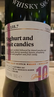 SMWS 135.7 - Yoghurt and fruit candies