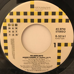 PET SHOP BOYS:DOMINO DANCING(LABEL SIDE-A)