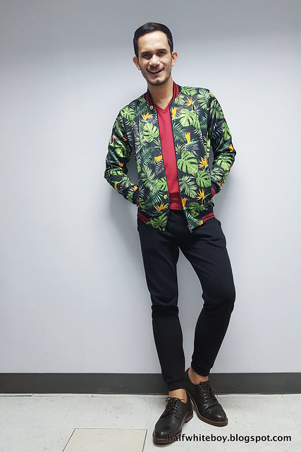 halfwhiteboy - summer print bomber jacket 05
