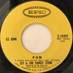 SLY & THE FAMILY STONE:HOT FUN IN THE SUMMERTIME(LABEL SIDE-B)
