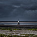 Stormy sky over Plover Scar Lighthouse, River Lune