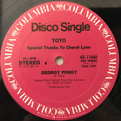 TOTO:GEORGY PORGY(LABEL SIDE-A)