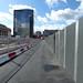 New paving at Centenary Square - temporary path towards Symphony Hall