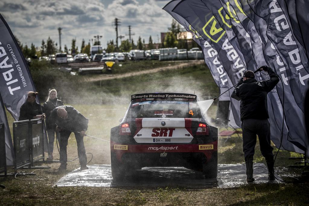 GRYAZIN Nikolay (LVA), FEDOROV Yaroslav (RUS), SPORTS RACING TECHNOLOGIES, Skoda Fabia R5, ambiance  during the 2018 European Rally Championship PZM Rally Poland at Mikolajki from September  21 to 23 - Photo Gregory Lenormand / DPPI