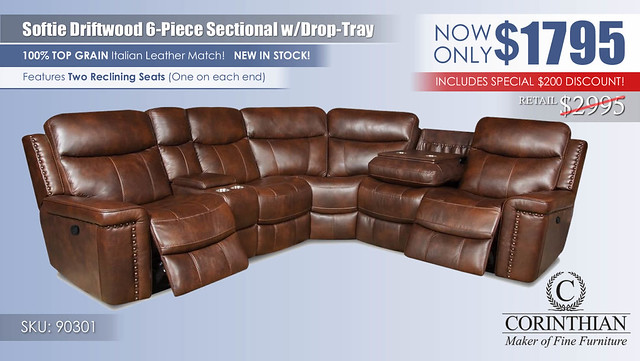 Softie Driftwood 6PC Sectional_90301_Update2