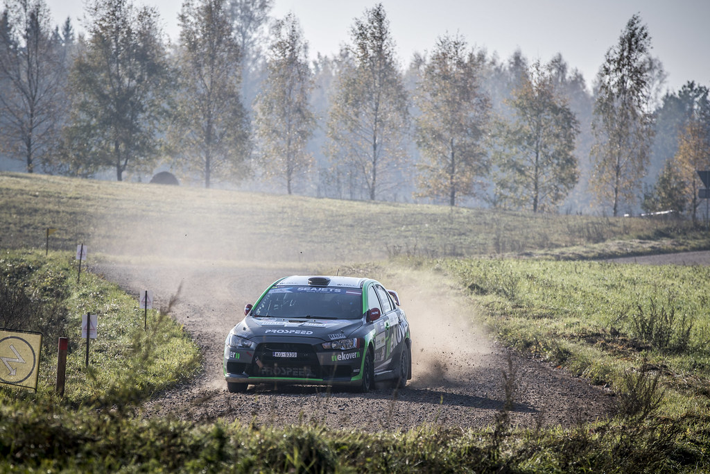 17 REMENNIK Sergei, (RUS), Mark ROZIN, (RUS), Russian Performance Motorsport, Mitsubishi Lancer Evolution X, Action during the 2018 European Rally Championship ERC Liepaja rally,  from october 12 to 14, at Liepaja, Lettonie - Photo Gregory Lenormand / DPPI