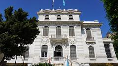 The Alexandria National Museum, the Mediterranean Sea, Egypt.