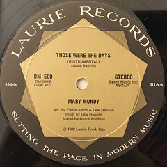 MARY MUNDY:THOSE WERE THE DAYS(LABEL SIDE-B)