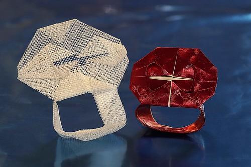 Origami Skull Ring (Kunihiko Kasahara)