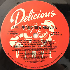 THE BRAND NEW HEAVIES:STAY THIS WAY(LABEL SIDE-A)
