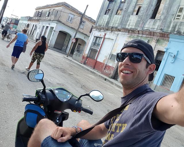 Asegurado con IATI en la moto durante mi año de viaje