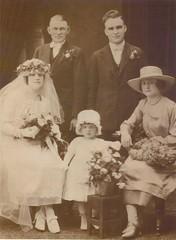 3d816de9c4 Wedding of Gilbert   Barbara Gjertsen 11-25-1920 with Andrew Schick