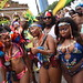 DSC_8494 Notting Hill Caribbean Carnival London Exotic Colourful Pink and Blue Costume Girls Dancing Showgirl Performers Aug 27 2018 Stunning Ladies