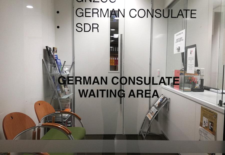 Wartezimmer des Deutschen Konsulats in Auckland
