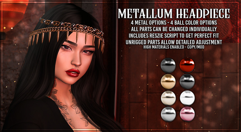 AsteroidBox. Metallum Headpiece for Saturday Sale! - TeleportHub.com Live!