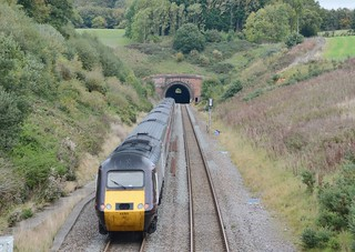 CROSS COUNTRY HST AT WHITEBALL TUNNEL.