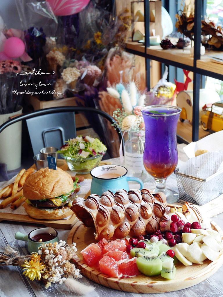 新店不限時乾燥花下午茶咖啡廳咖啡館推薦花草慢食光 (1)