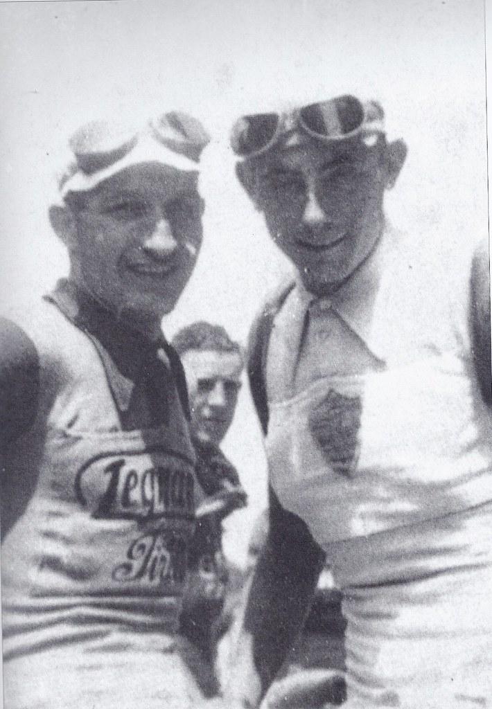 F.Coppi con Gino Bartali Giro 1940