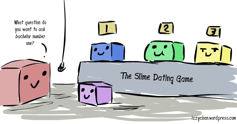 drawlloween slime the dating game