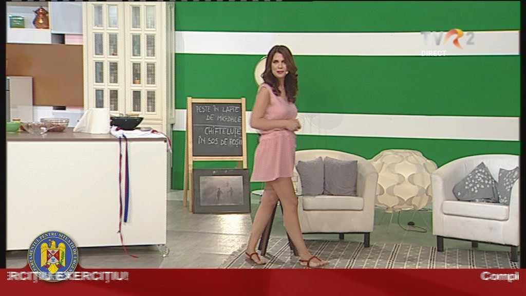Aida Parașcan face super chef pe TVR 2
