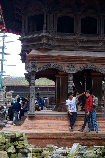 Local Tourists in Bhaktapur, Nepal