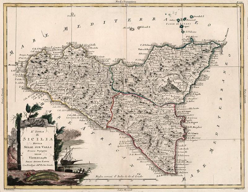 Antonio Zatta - L'Isola di Sicilia (1782)