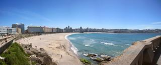 Attēls no Praia do Orzán Orzan Beach. lacoruna galicia spain