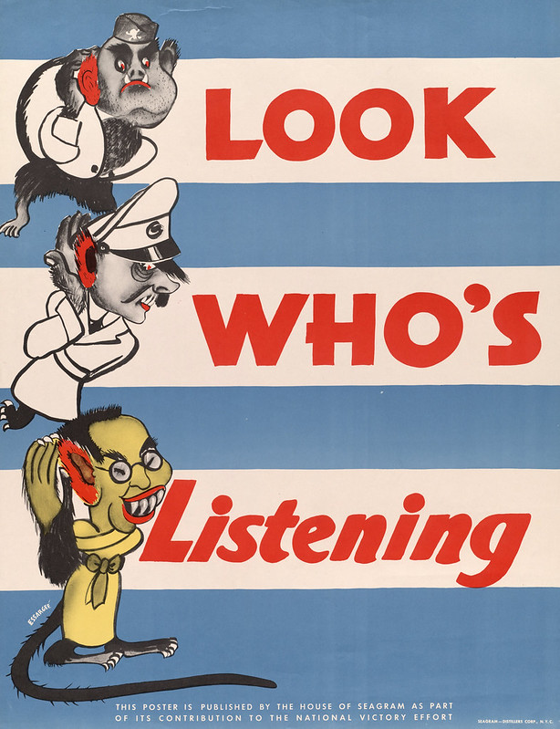 Look who's – listening - by Essargee