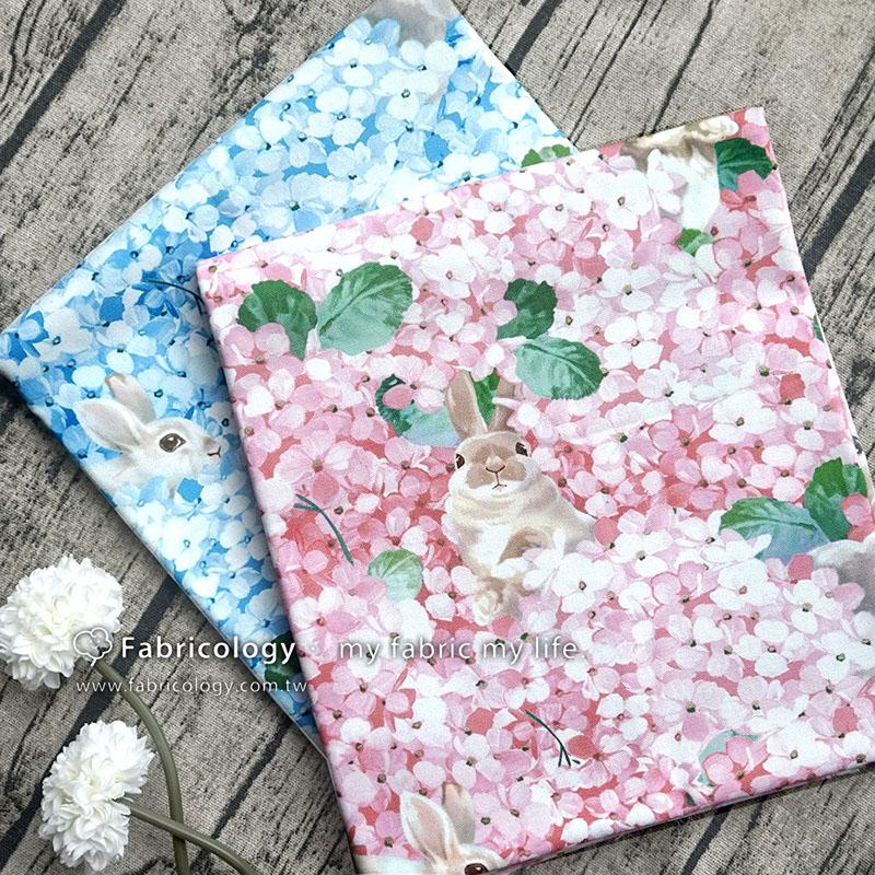 布學盒裝印花布(1y)花吃了兔 手工藝DIY布料 SW001809-9