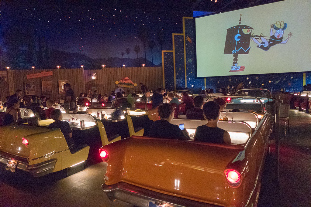 Seating at Sci Fi Dine In Restaurant