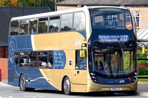 SK68 LUT 'Yorkshire Traction' No. 11125, 'stagecoachgold . Alexander Dennis Ltd. (ADL) E40D / 'ADL' Enviro 400MMC on Dennis Basford's railsroadsrunways.blogspot.co.uk'  This bus does not carry the X17 branding.