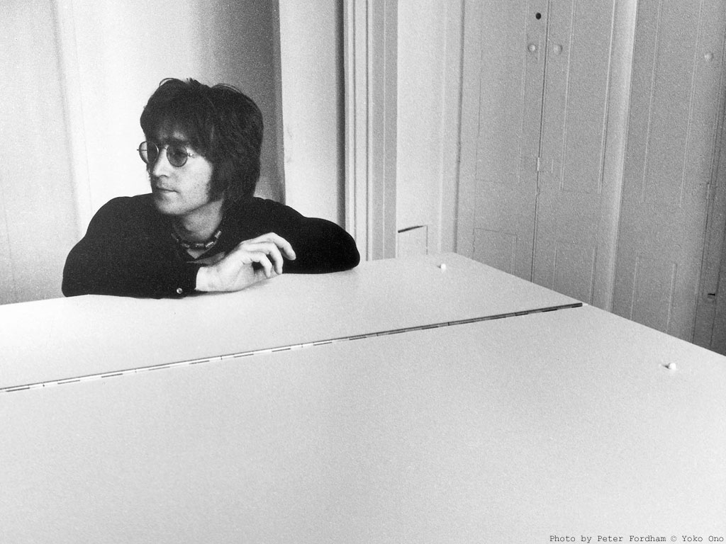 John Lennon during the recording of