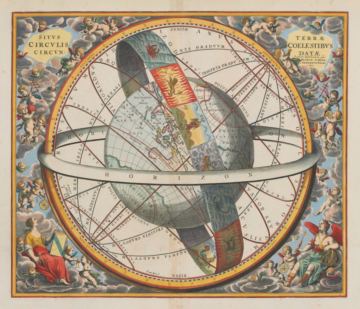 Andreas Cellarius 1660  Ptolemaic View of the Universe