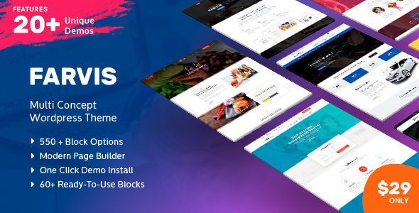 Farvis v1.2 – Multipurpose WordPress Theme