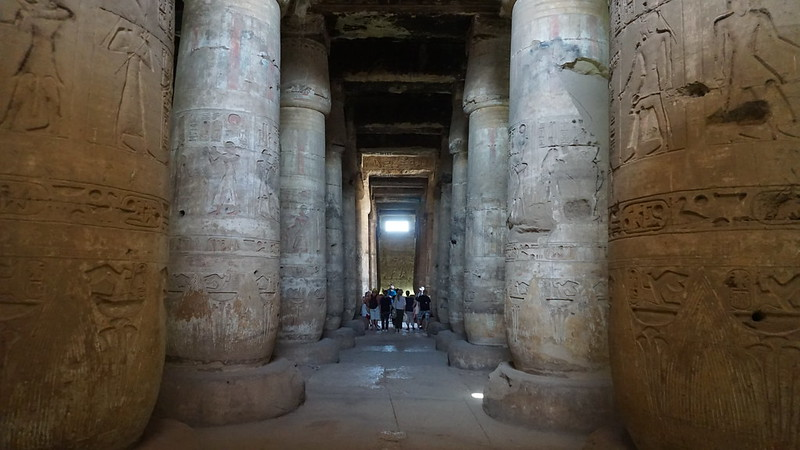 The First Hypostyle Hall, the Temple of Seti I, Abydos, Egypt.