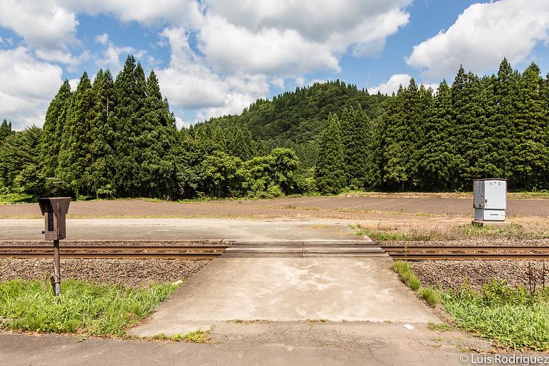 Pasos a nivel de la línea Akita Nairiku