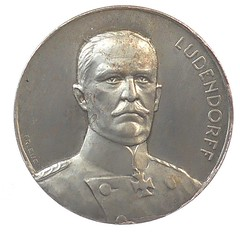 WWI German Medal Man Battles Hydra obverse