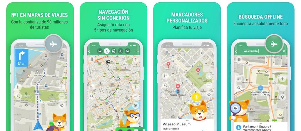 Maps.me es una aplicación gratuita especialista en mapas sin conexión y offline