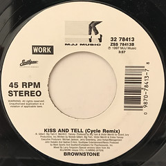 BROWNSTON:KISS AND TELL(LABEL SIDE-B)