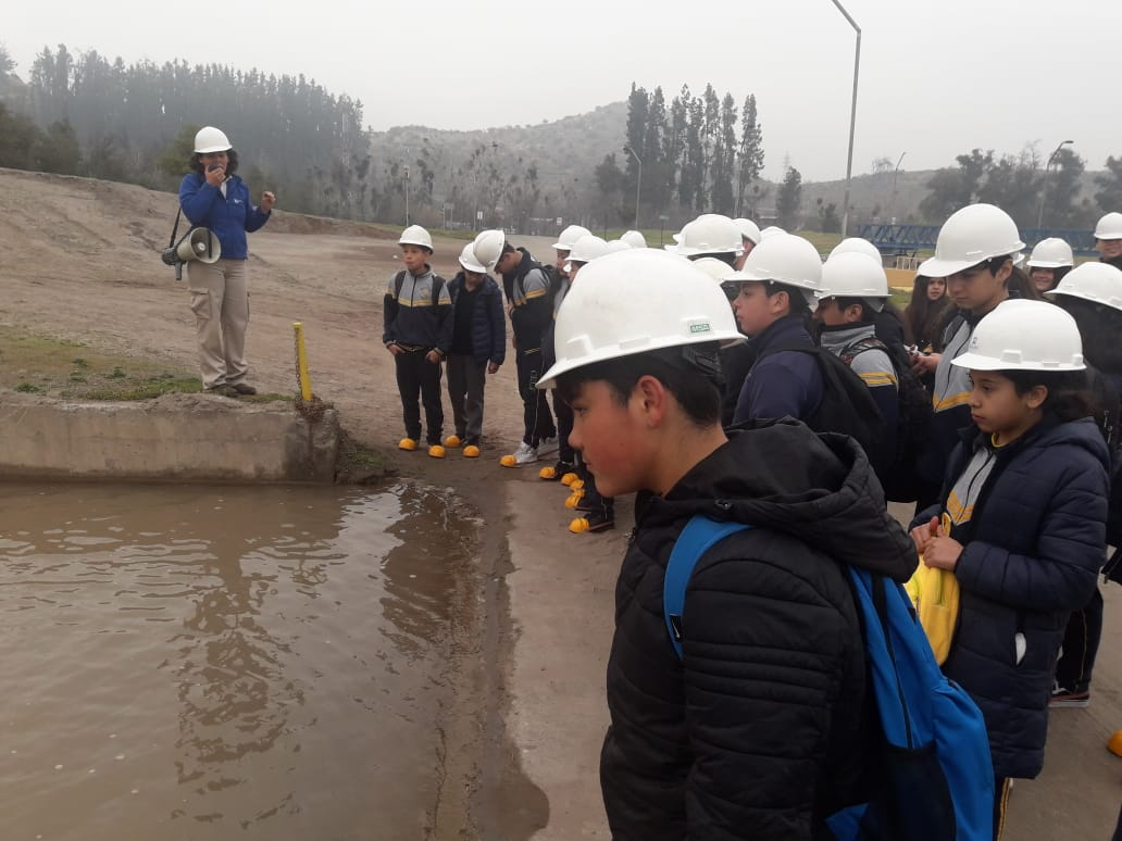 salida pedagogica del 7B a aguas andinas