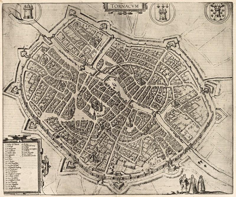 Georg Braun & Franz Hogenberg - Tornacum (Tournai) (1588)