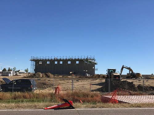 New Davies Library and Deer Trail School as of Oct 3, 2018.
