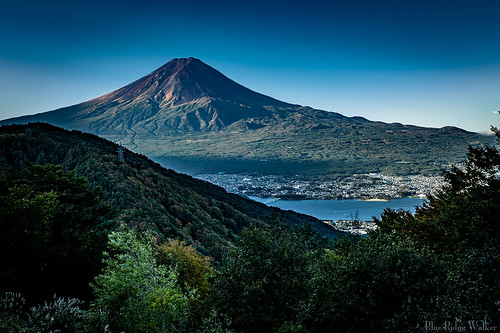The view of Mt.Fuji from Misaka pass