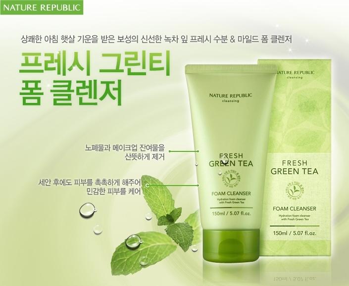 Sữa rửa mặt Green Tea Hàn Quốc