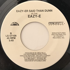 EAZY-E:WE WANT EAZY(LABEL SIDE-B)