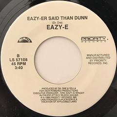 EAZY-E:WE WANT EAZY(LABEL SIDE-B)